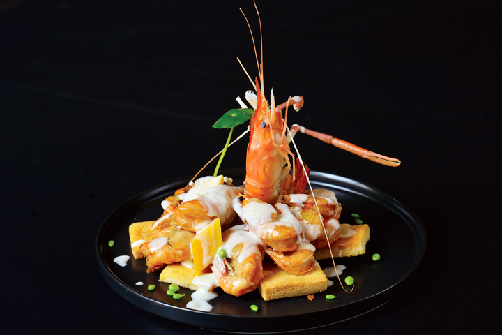 檀岛酱焗罗氏虾